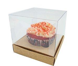 Embalagem kraft para 1 cupcake ( 8,5x8,5x8 ) pacote c/10 Unidades.