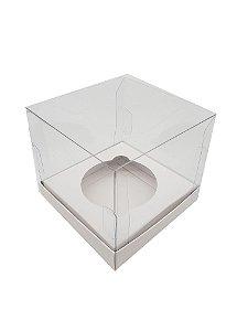 Embalagem Branca para 1 cupcake (7,5x7,5x7,5) pacote c/10 Unidades.