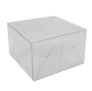 Embalagem de acetato transparente  (7 X 7 X 4,2 ) - 20 Unidades