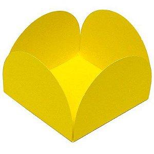 Forminhas para Doces 4 Pétalas Amarela 50 unidades