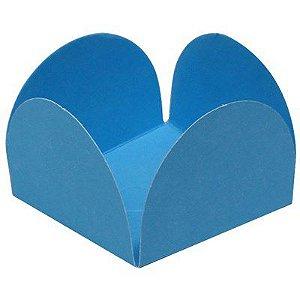Forminhas para Doces 4 Pétalas Azul Claro 50 unidades