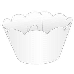 Saia / Wrapper Cupcake Tradicional - Branco - 5cm x 22cm x 12 cm 12 unidades