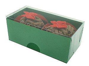 Embalagem verde para 2 doces (8x4x3) - 20 Und.