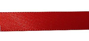 Fita cetim simples vermelha  - 50 metros  - 10mm pacote c/ 1 rolo