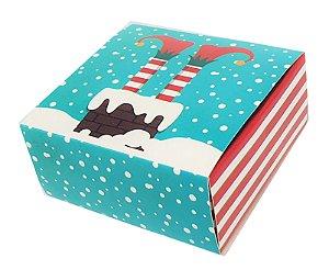 Embalagem para 4 brigadeiros - Natal modelo Pezinho - pacote c/10 unidades