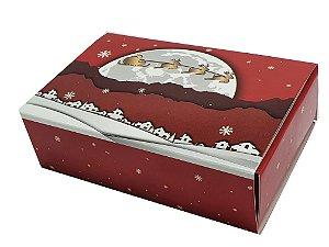 Embalagem Natal Para 6 brigadeiros  - modelo Renas - pacote c/10 unidades