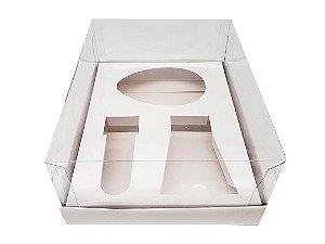 Caixa Branca para Kit Confeiteiro Ovo de 100g ou 150g