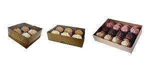 60 Caixas Kraft Kit P/4, 6 E 12 Doces/brigadeiro Gourmet