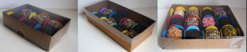 100 Caixas De Brigadeiros Kraft - Kit P/6,8,12
