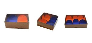 Kti 60 Caixas Kraft - Para 2- 4  E  6  Doces E Brigadeiros