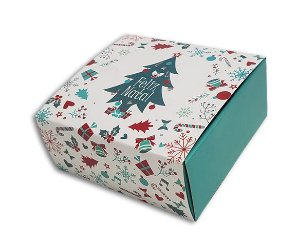 Embalagem Natal para 4 brigadeiros - modelo arvore natal- pacote c/10 unidades