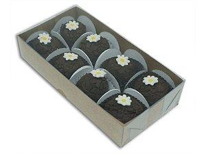 10 Caixas Kraft para 8 doces (15,5x8x3) pct c/10 Unid.