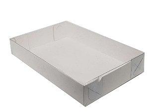 Embalagem branca com tampa de acetato  25x15x5 - pacote c/20 unidades