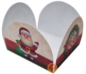 Forminhas tema Natal para Doces 4 Pétalas -50 uni