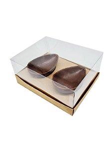 10 Caixas kraft P/ 2 Ovos de Colher 100_150g cada  - 10 unidades