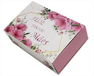 10 Embalagens Dia das Mães p/ 6 brigadeiros - Flores (12x8,3x3,5)