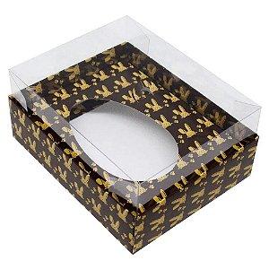 Caixa para ovo de Colher modelo Marrom com Coelhos 500g. Sem a colher - 05 und