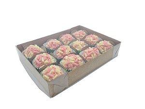 20 Caixas Kraft p/12 doces (15,5x12x3) pct c/ 20 unid.