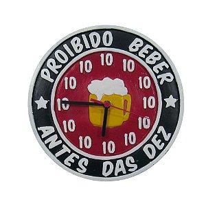 Relógio De Parede Proibido Beber Antes Da Dez