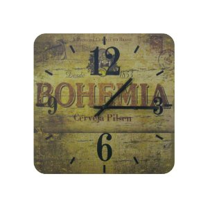Relógio De Parede Em Madeira Cerveja Bohemia