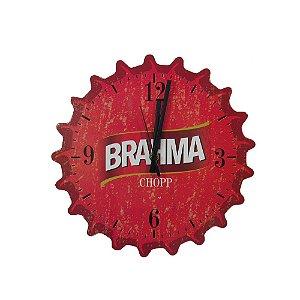 Relógio De Parede Em Madeira Cerveja Brahma.