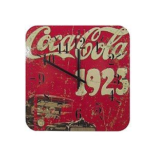 Relógio De Parede Em Madeira Coca Cola Estilo Vintage.