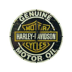 Relógio De Parede Decorativo Moto Chopper Harley Davidson.