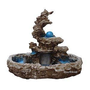Fonte De Água Decorativa Cascata, imitação De Pedra