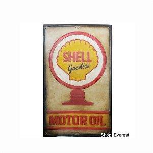 Placa Decorativa Vintage Shell Em Alto Relevo