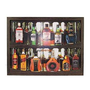 Quadro De Bebidas Whisky Em Alto Relevo.