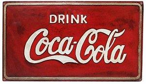 Placa Coca - cola Retro Vintage em Alto Relevo.