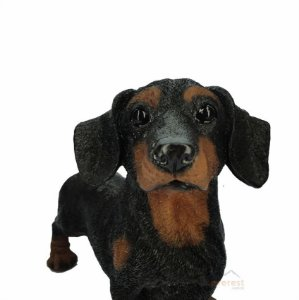 Cachorro Basset Decorativo Preto - Pode Ficar No Tempo.