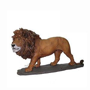 Leão Decorativo Grande - Símbolo Do Poder, Força.