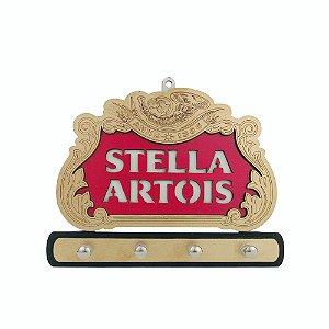 Porta Chave Stella Artois de Madeira