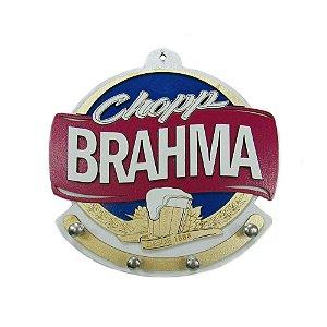 Porta Chave Chopp Brahma de Madeira