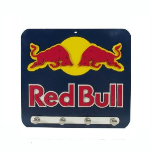 Porta Chave Red Bull de Madeira em alto relevo.