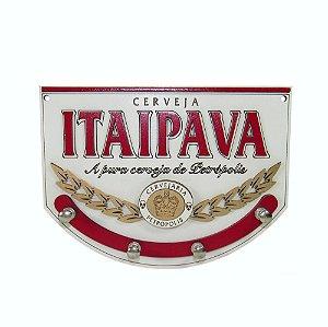 Porta Chave Itaipava de Madeira em alto relevo.
