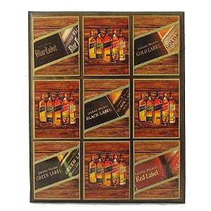 Quadro Decorativo Rótulos De Whisky Blue Label.