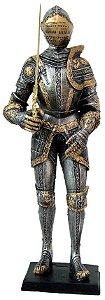 Guerreiro Medieval Com Lança Grande