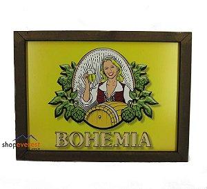 Luminoso Bohemia Retangular De Madeira