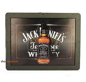 Luminoso Jack Daniel's Retangular De Madeira