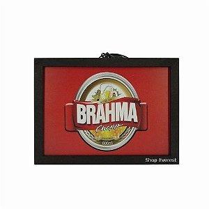 Luminoso Chopp Brahma Retangular De Madeira