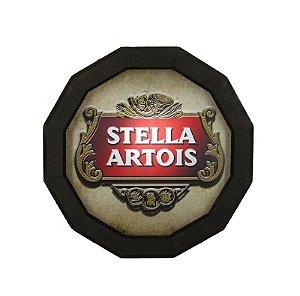 Luminoso Stella Artois de Madeira Redondo
