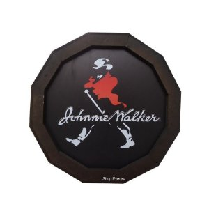 Luminoso Johnnie Walker De Madeira Redondo