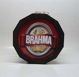 Luminoso Brahma Chopp De Madeira Redondo
