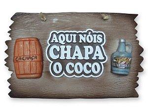 Placa Aqui Nóis chapa o coco.