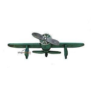 Avião Vintage Clássico Decorativo Grande