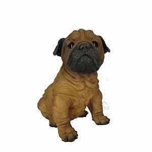 Cachorro Pug Decorativo - Pode Ficar No Tempo