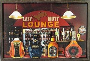 Quadro De Bebidas Lounge Em Alto Relevo.