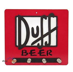 Porta Chave cerveja Duff em Madeira